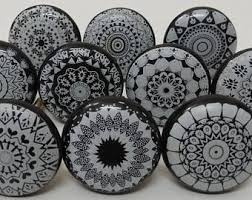 porcelain kitchen cabinet knobs ceramic knobs etsy