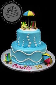 cake walk pool party cake u0026 happy birthday dad