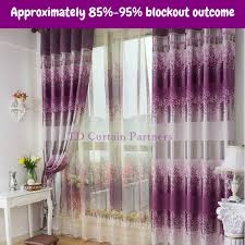 Curtains Drapes Blockout Purple Lavender Valance Bedroom Fabric Drapes Sheer