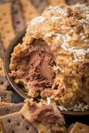 german chocolate cake cheese ball oh sweet basil