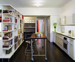 sydney counter height kitchen contemporary with floating shelves