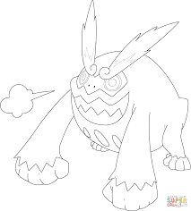 darmanitan pokemon coloring page free printable coloring pages