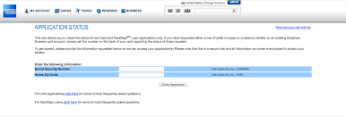 amex credit card application status and reconsideration line the