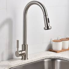 stainless steel pull down kitchen faucet best commercial stainless steel single handle pull out sprayer