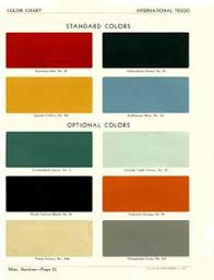 color charts 1954 paint chart my u002754 ih rat rod project