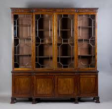 sold 19c mahogany breakfront library bookcase antique bookcases