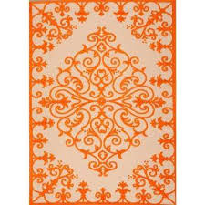 7 X 9 Outdoor Rug Orange Geometric 5 X 7 Outdoor Rugs Rugs The Home Depot