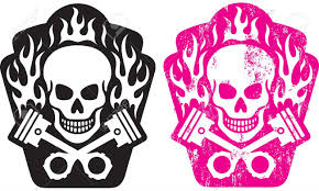skull and piston tattoos illustration of skull and crossed pistons with flames includes