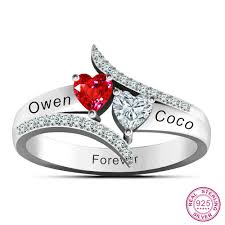 Engraved Name Rings Love U0027s Promise Rings 925 Sterling Silver Personalized Couples