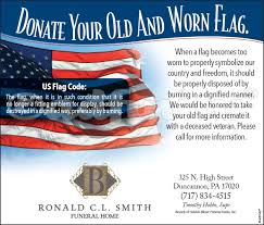 Country Code Flags Donate Your Old And Worn Flag To Funeral Home Name Adfinity