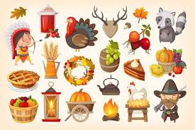 set of thanksgiving day icons illustrations creative market