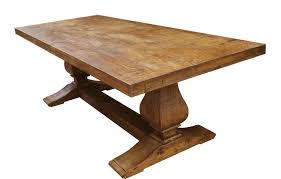 wood table made segovia reclaimed wood trestle dining table by mortise