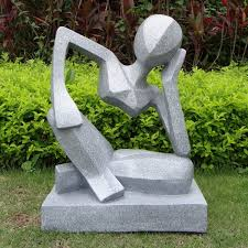 contemporary garden large garden sculptures reflection modern