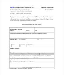 ncr report template sle non conformance report template 12 free word pdf