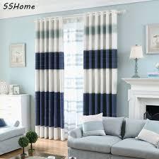 custom striped curtains modern minimalist nordic stripes cowboy