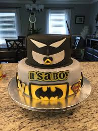 batman baby shower cake little miscakes creations pinterest