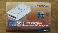 tpl 4052e trendnet powerline av500 4 port hub switch tpl 4052e ebay