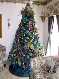 Pics Of Decorated Christmas Trees Best 25 Peacock Christmas Decorations Ideas On Pinterest