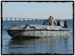 Two Man Layout Blind Bankes Boats Freedom 17 Open Water Duck Hunting Boat