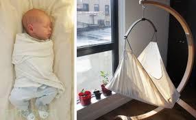 inhabitots reviews the hushamok rocking hammock baby bassinet