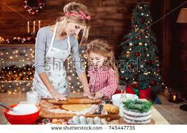 merry happy holidays family preparation stock photo