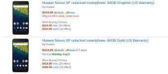 amazon black friday deal nexus 6 update now just 399 deal alert 64gb nexus 6p falls from 100