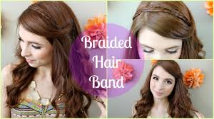 braid hairband braided hair band tutorial
