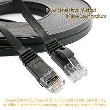 amazon com jadaol cat 6 flat ethernet cable 100 ft black with