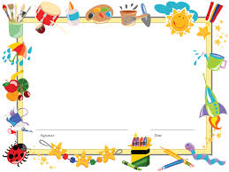 christmas border writing paper kindergarten paper clipart background collection microsoft word clip art free