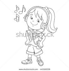 cello coloring page coloring page outline cartoon boy stock vector 424589875
