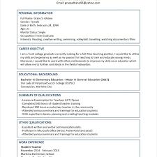 sample resume for a fresh graduate sample resume format for fresh graduates two page format in