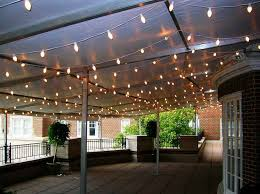 Outdoor Garden Lights String Hanging Outdoor Lights String How To Decorate Your Patio With