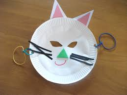 Halloween Crafts Made Out Of Paper by Paper Plate Cat Mask Craft Preschool Crafts For Kids