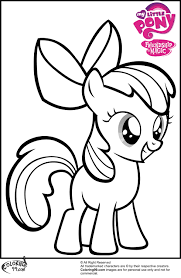 apple coloring page my little pony apple bloom coloring pages getcoloringpages com