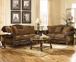 traditional wooden sofa set designs signature design by ashley