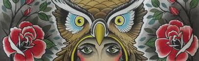 owl with roses opie ortiz