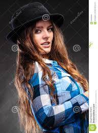 portrait of gorgeous country woman fashion stock photo