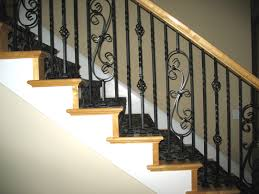 Spindle Staircase Ideas Classic Iron Stair Spindles Door Stair Design