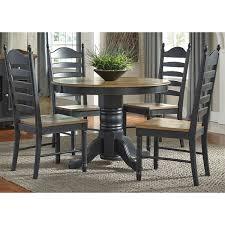 Black Oval Dining Room Table - springfield ii honey and black oval pedestal 5 piece dinette set