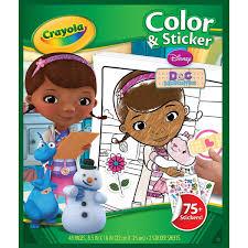 crayola disney doc mcstuffins colour sticker book amazon