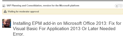 bpc epm add in and office 2013