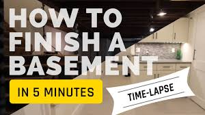 finishing a basement in 5 minutes time lapse construction youtube