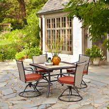 Motion Patio Chairs Mason Green Hillsboro 5pc Dining With Motion Dining Chairs
