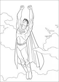 flying superman coloring pages kids printable super heroes