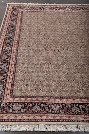 persian bidjar herati ivory hand knotted wool rug 36265