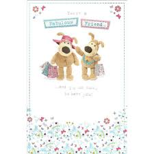 boofle fabulous friend happy birthday greeting card cards love