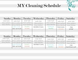 printable house cleaning schedule cleaning checklist by room printable unique house cleaning schedule