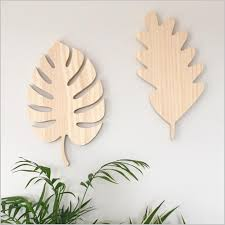 wooden leaves wall image of wooden monstera leaf for the wall creative