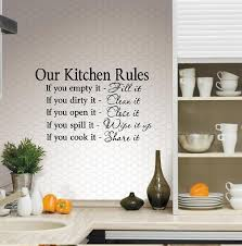 amazon com our kitchen rules wall decal 13