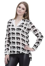 elephant blouse 2412601 designs georgette elephant print blouse in
